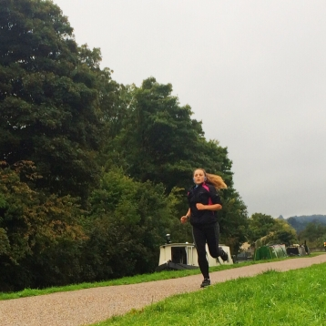 Morning run along the canal