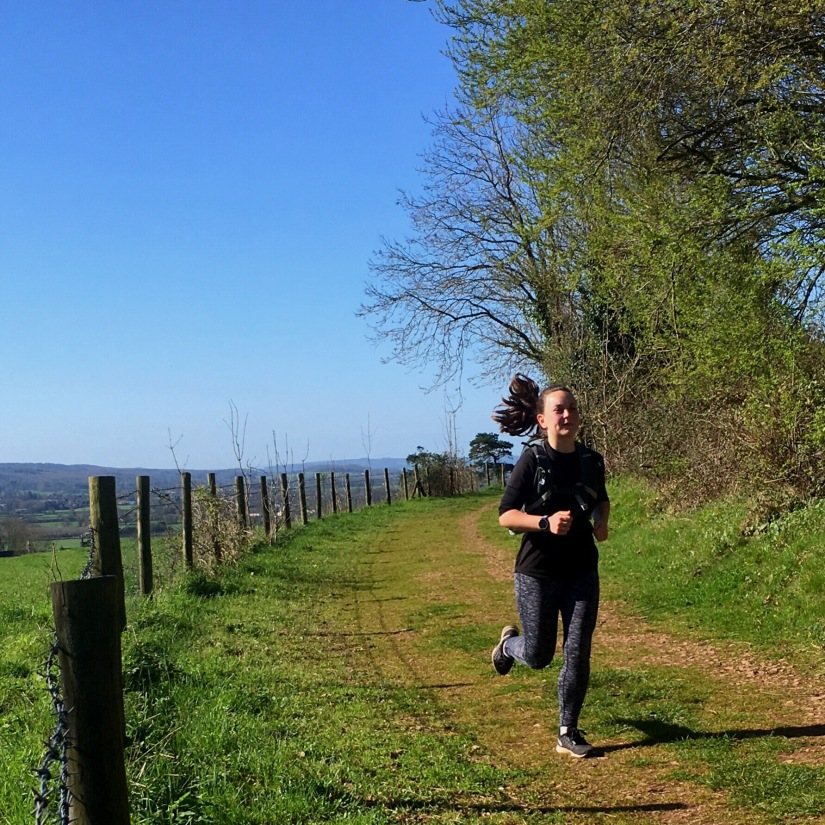 Running at a trail Trust 10 Event